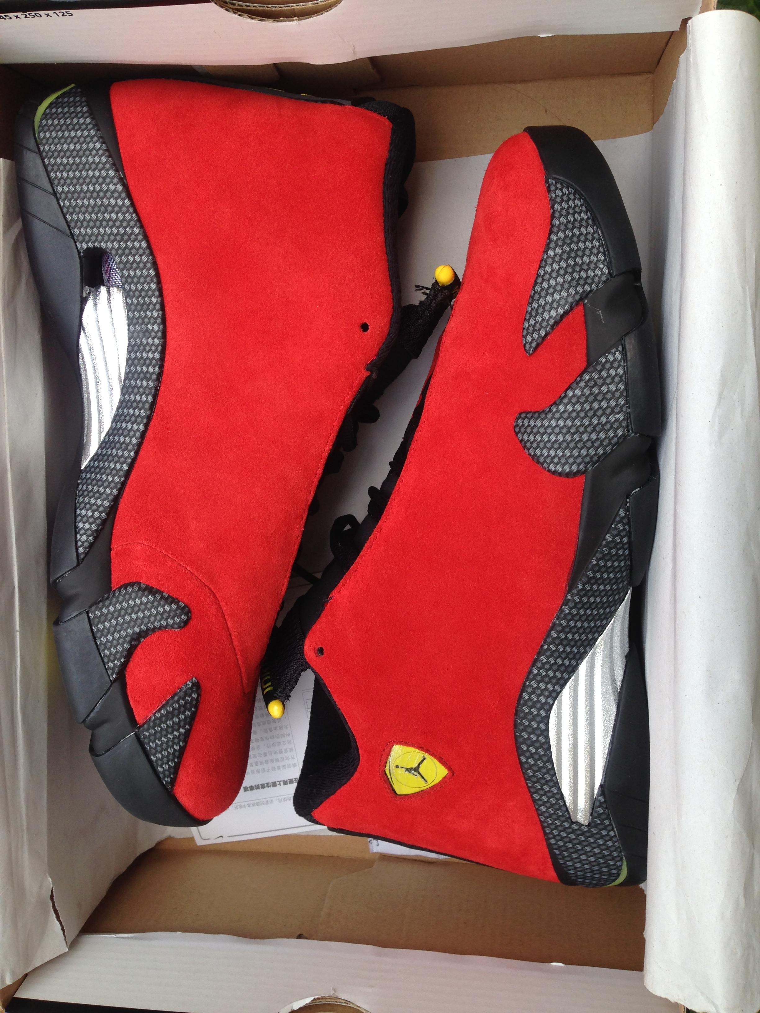 Air Jordan 14 Retro Red Ferrari Mens Sneakers For Sale