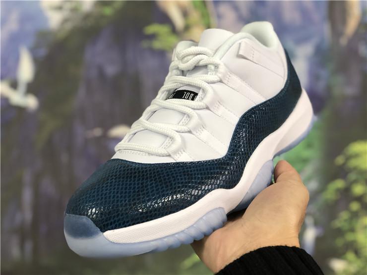 navy blue and white jordans 11
