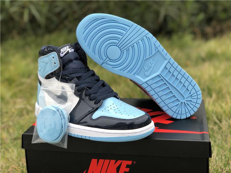 Air Jordan 1 UNC Patent Leather Shoes