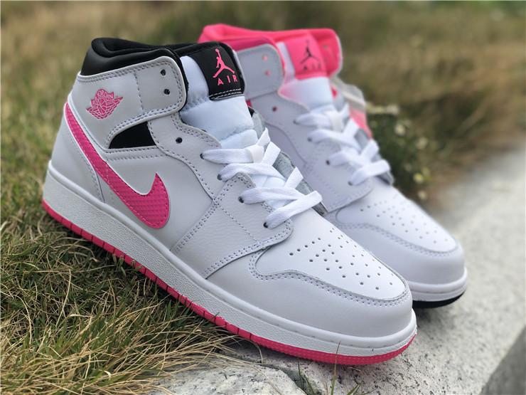 2019 Air Jordan 1 Mid Hyper Pink White