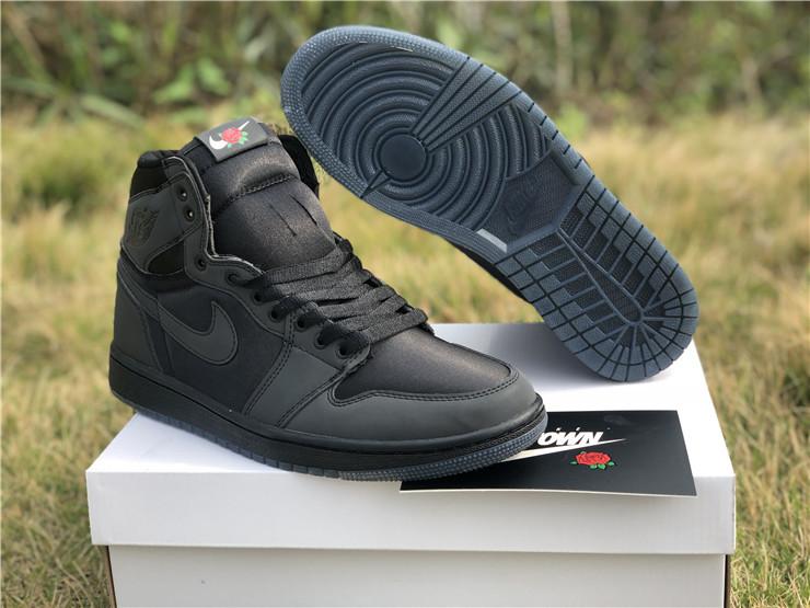 "Men's Air Jordan 1 Retro High OG ""Rox Brown"" Black Metallic Gold Shoes"