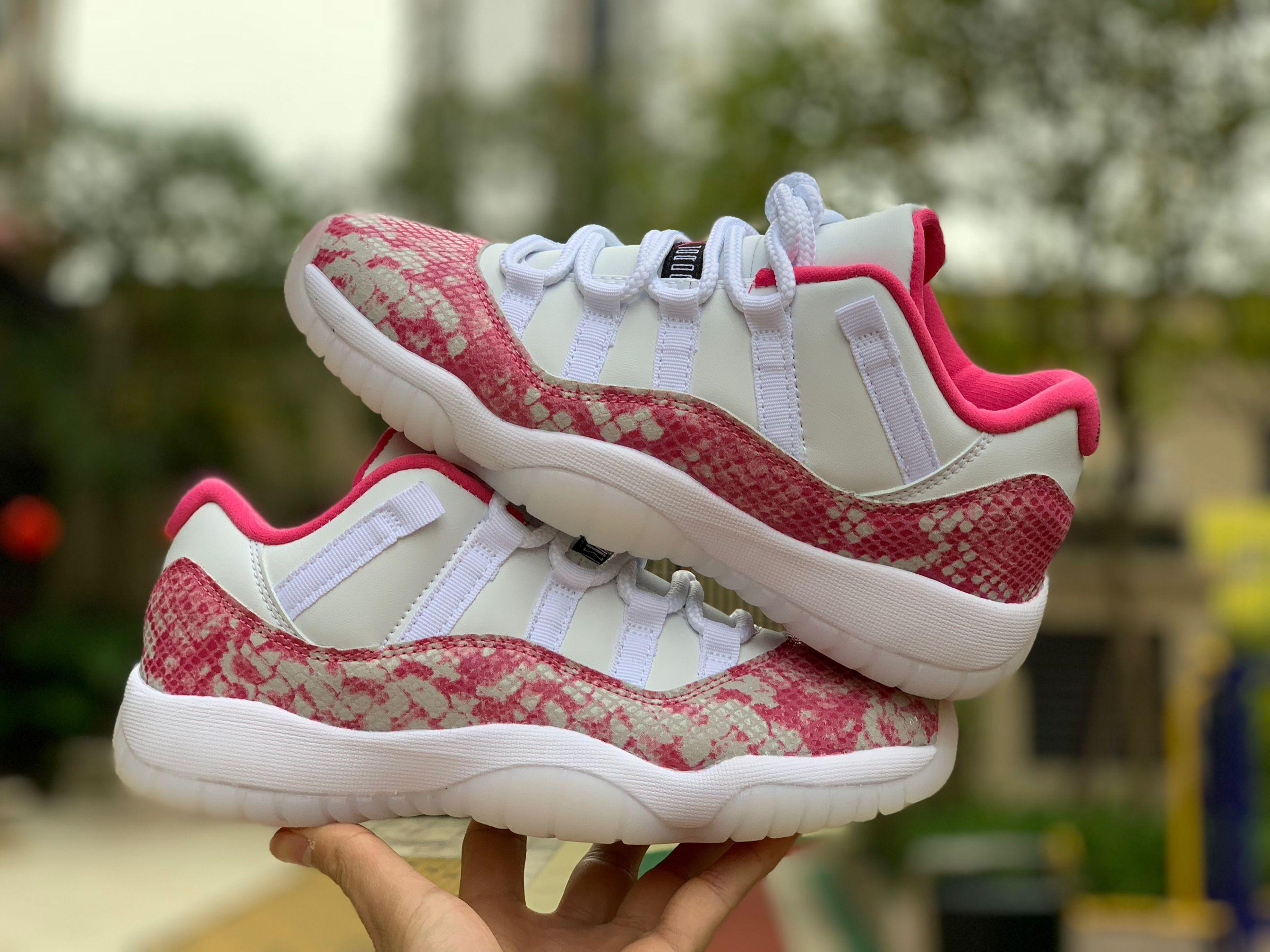 2019 Air Jordan 11 Low WMNS Pink Snakeskin For Sale