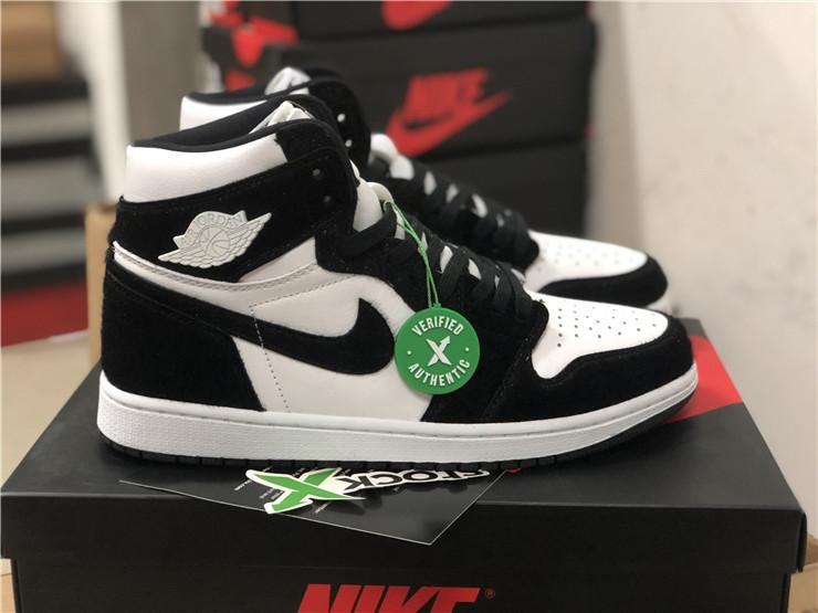 2019 Cheap Air Jordan 1 Panda Black White For Sale