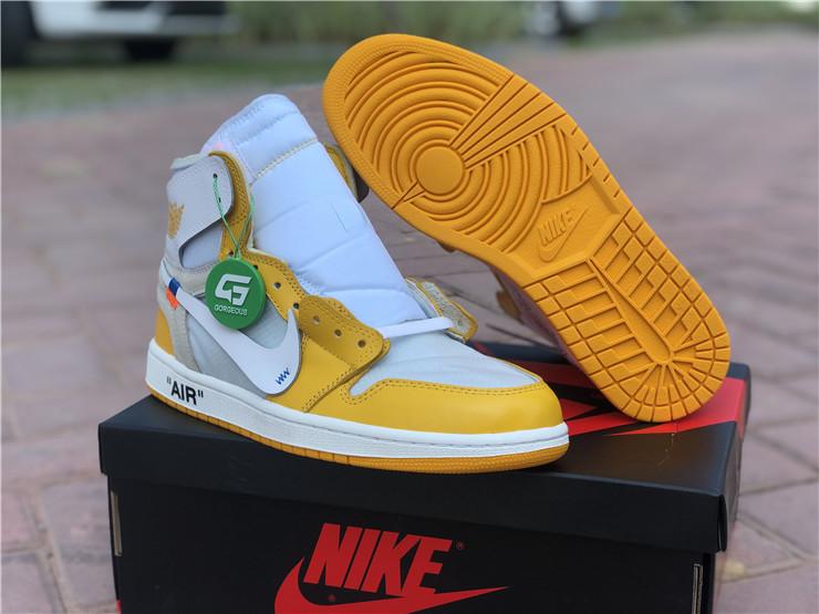 x Nike Air Jordan 1 Yellow White Outlet