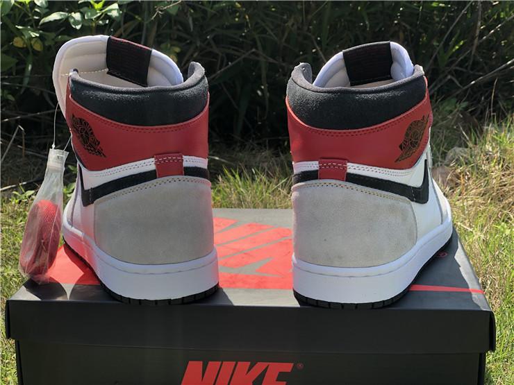 Air Jordan 1 High Og Light Smoke Grey Varsity Red For Sale 555088 126
