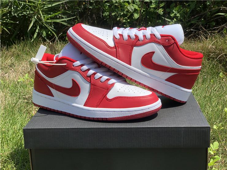 2020 Cheap Air Jordan 1 Low Gym Red White 553558 611