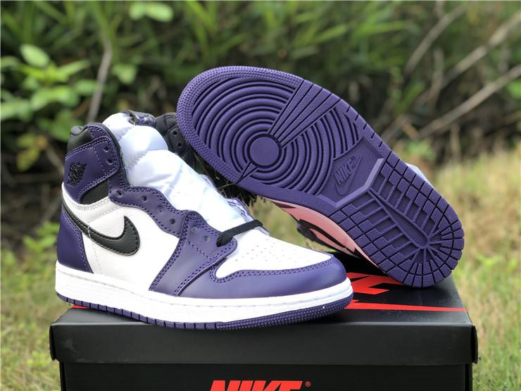 2020 New Air Jordan 1 Hi Court Purple Girls Size