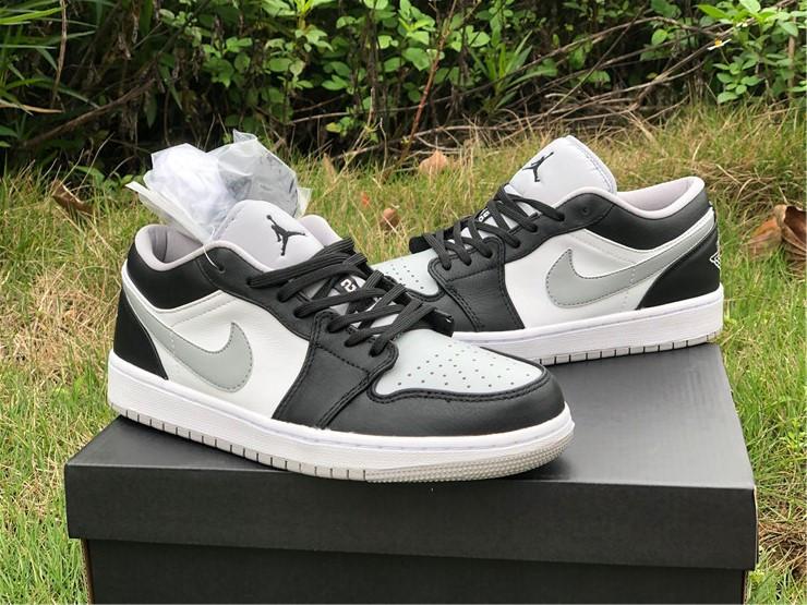 Air Jordan 1 Low Black Grey Toe For