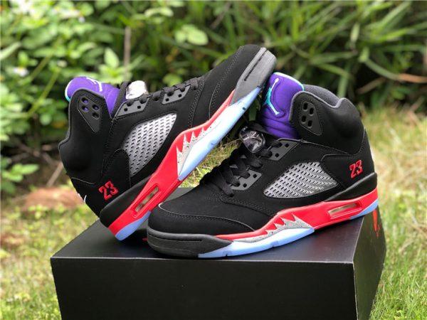 """Air Jordan 5 """"Top 3"""" Black Fire Red"""