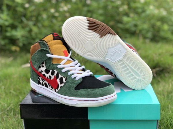 2020 Cheap Nike SB Dunk High Dog Walker Shoes BQ6827-300