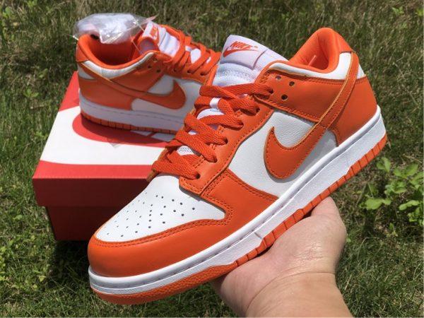 2020 Nike Dunk Low Syracuse White Orange Blaze CU1726-101-1