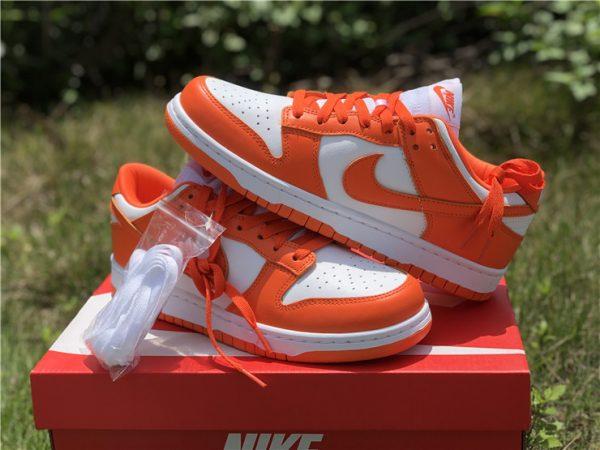 2020 Nike Dunk Low Syracuse White Orange Blaze CU1726-101-6