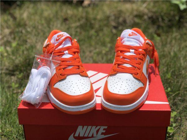2020 Nike Dunk Low Syracuse White Orange Blaze CU1726-101-5