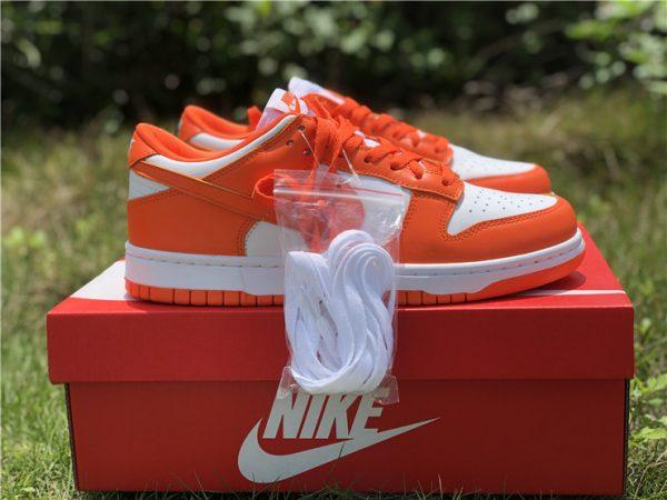 2020 Nike Dunk Low Syracuse White Orange Blaze CU1726-101-4