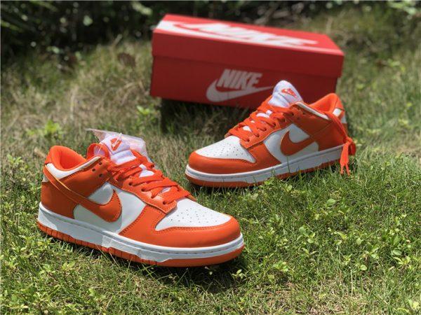 2020 Nike Dunk Low Syracuse White Orange Blaze CU1726-101-3
