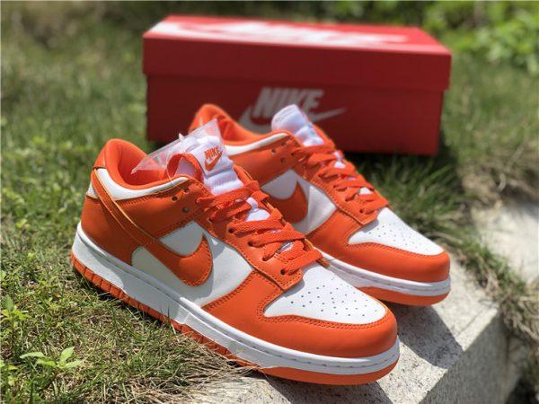 2020 Nike Dunk Low Syracuse White Orange Blaze CU1726-101-2