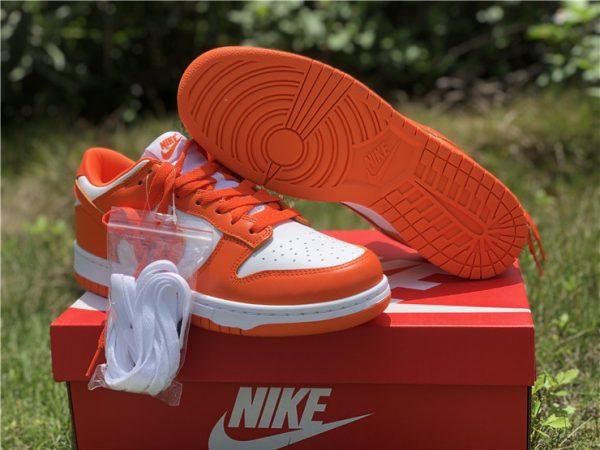 2020 Nike Dunk Low Syracuse White Orange Blaze CU1726-101