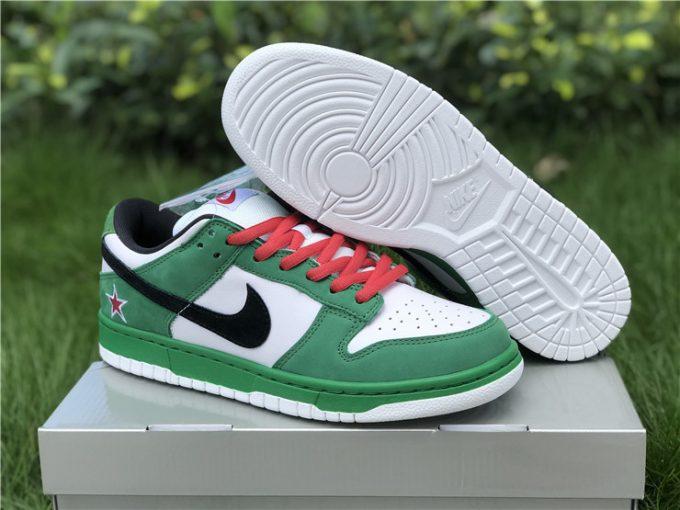 Men and Womens Nike SB Dunk Low Pro Heineken 304292-302