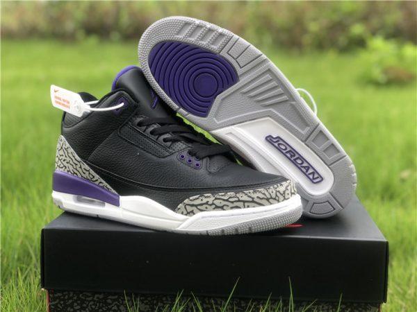 2020 Cheap Air Jordan 3 Court Purple Men's Basketball Shoes CT8532-050