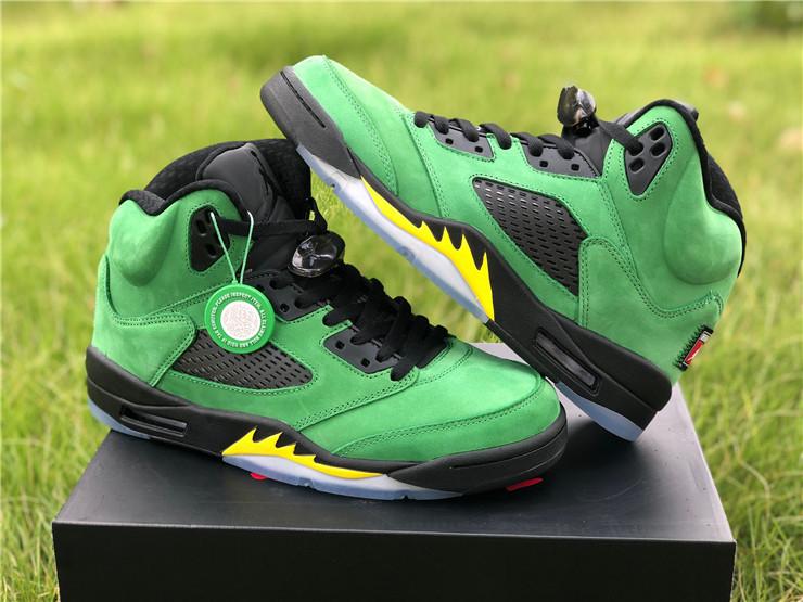 Air Jordan 5 Retro Oregon Ducks Black