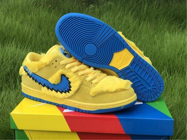 2020 Summer Grateful Dead x Nike SB Dunk Low Yellow Bear CJ5378-700