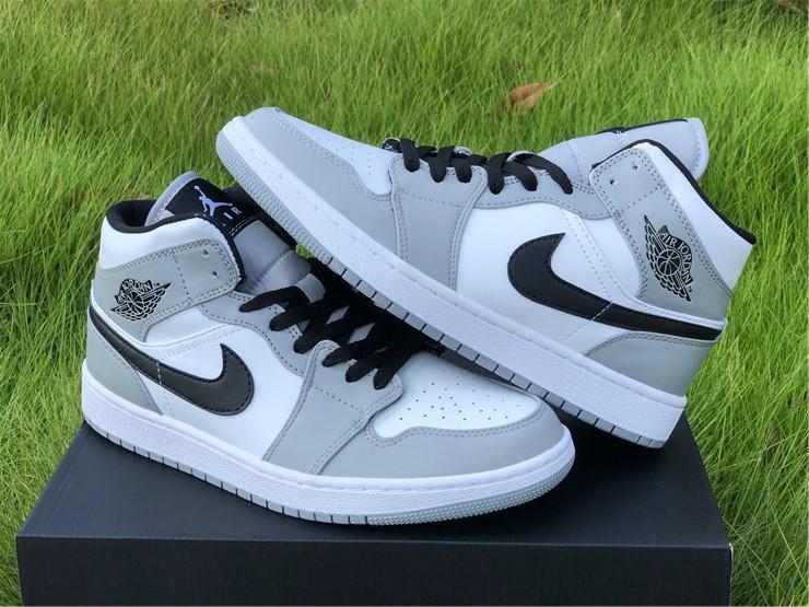 "Buy Air Jordan 1s Retro Mid ""Light Smoke Grey"" Shoes 554724-092"