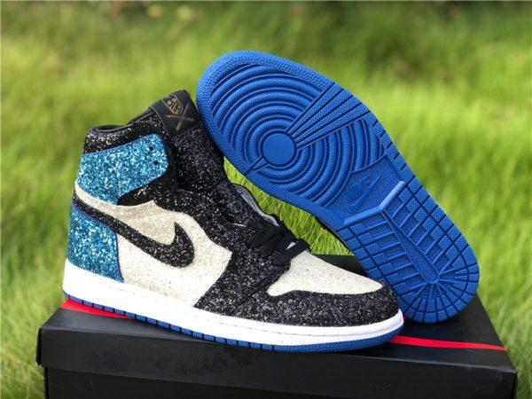 Fragment Design x Air Jordan 1 Glitter Shoes For Sale CK5566-400