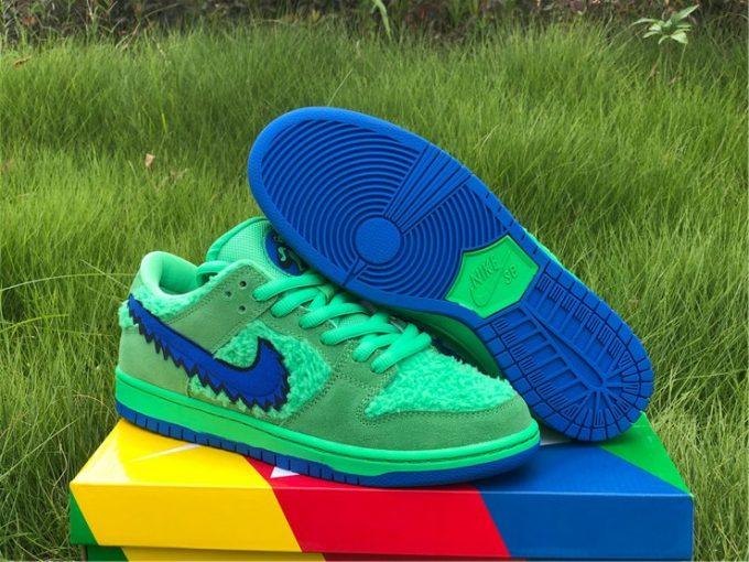 Grateful Dead x Nike SB Dunk Low Green Bear Shoes CJ5378-300