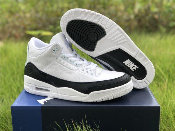 2020 Fragment x Air Jordan 3 White/Black On Sale DA3595-100