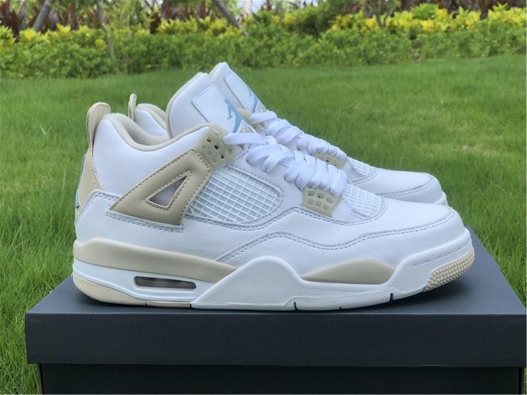 "Air Jordan 4 GS ""Linen"" Girl's Size For Sale 487724-118"