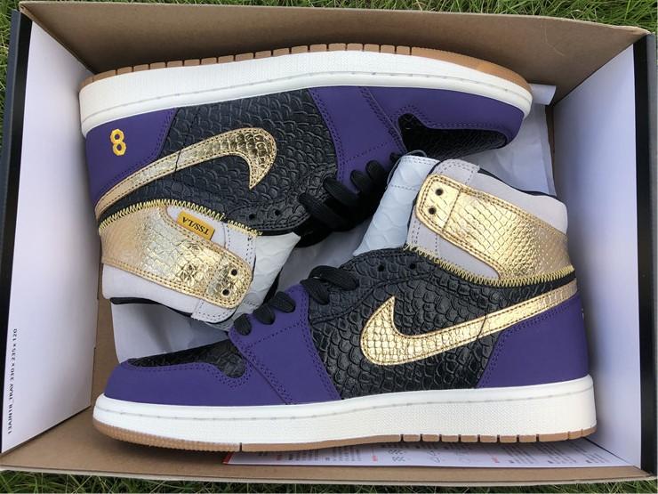 Black Gold Purple Sneakers 555088-171