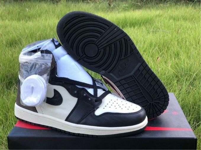 Discount Air Jordan 1 High OG Dark Mocha Black and White Sale 555088-105