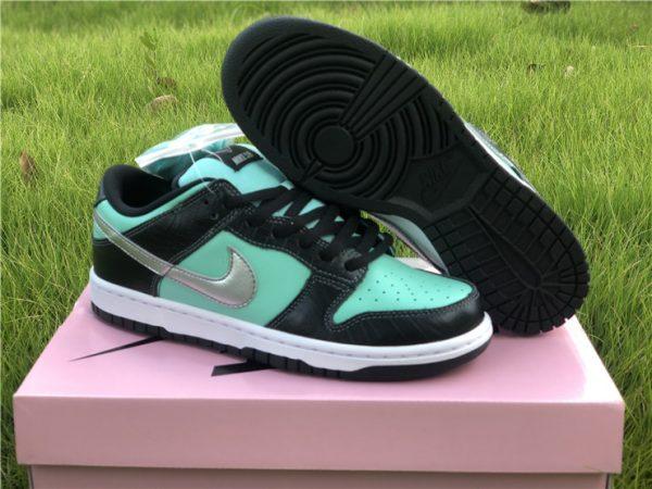 "Men and Women's Nike SB Dunk Low Diamond Supply Co. ""Tiffany"" Shoes 304292-402"