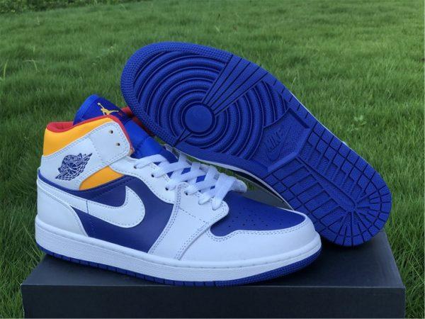 Buy Air Jordan 1 Mid Royal Blue Laser Orange Online 554724-131