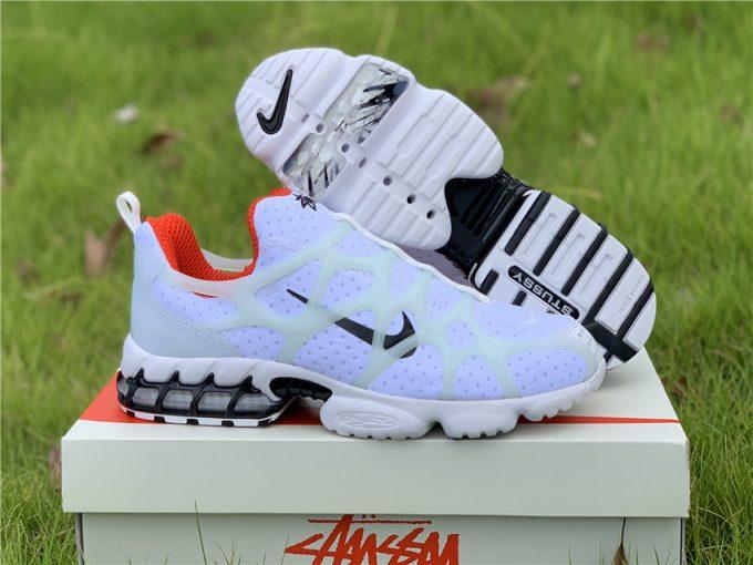 Stussy x Nike Air Zoom Spiridon Kukini White/Black Red To Buy CJ9918-100