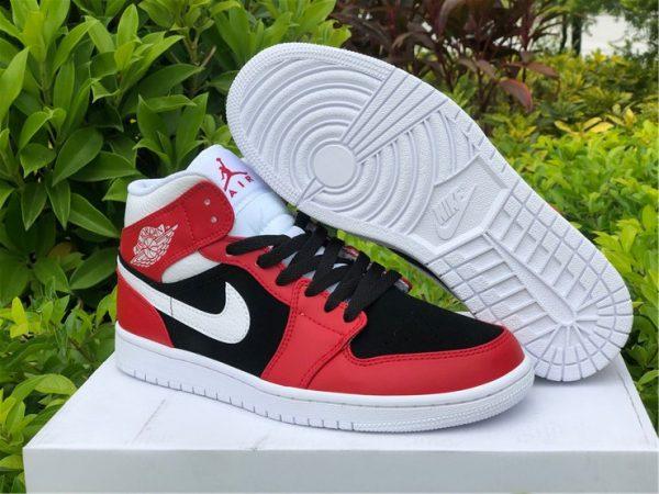 2021 Air Jordan 1 Mid Chicago Flip Gym Red Black To Buy BQ6472-601