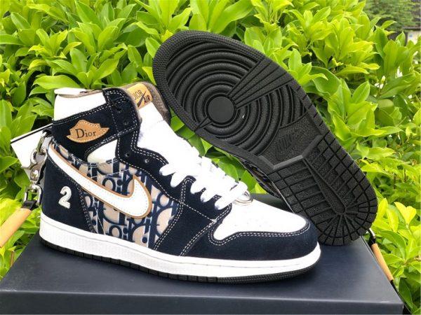 Dior x Air Jordan 1 High OG Black White On Sale CD0461-200
