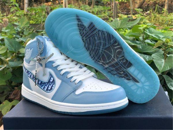Dior x Air Jordan 1 High OG Blue White Mens Shoes CN8607-002