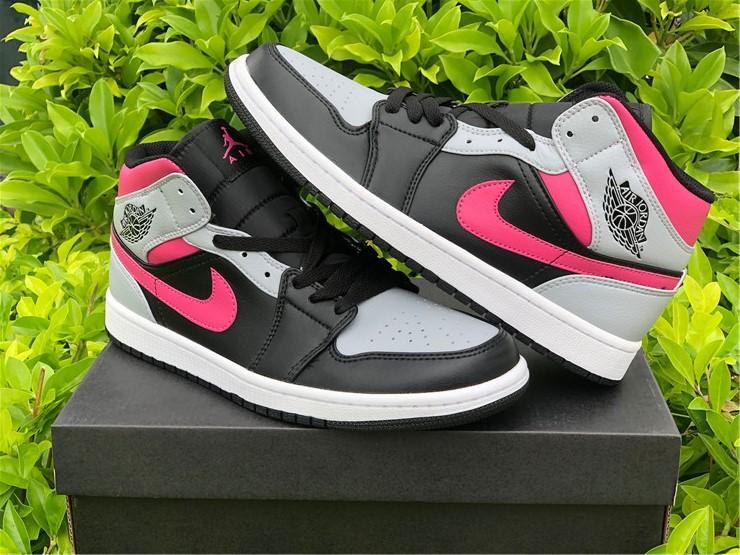 """New Release Air Jordan 1 Mid """"Pink Shadow"""" 554724-059"""