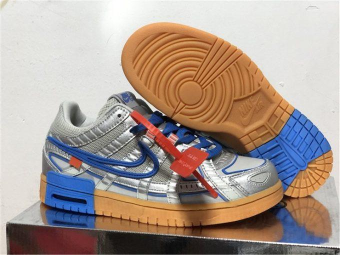 Off White x Nike Air Rubber Dunks University Blue Online CU6015-100