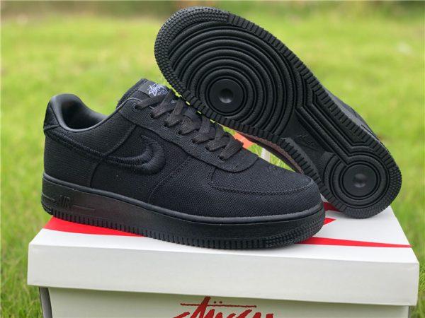 Stussy x Nike Air Force 1 Low Black Mens Sale CZ9084-001