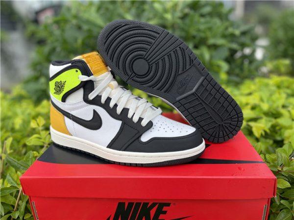 2021 Air Jordan 1 High OG Volt Gold Mens Shoes 555088-118