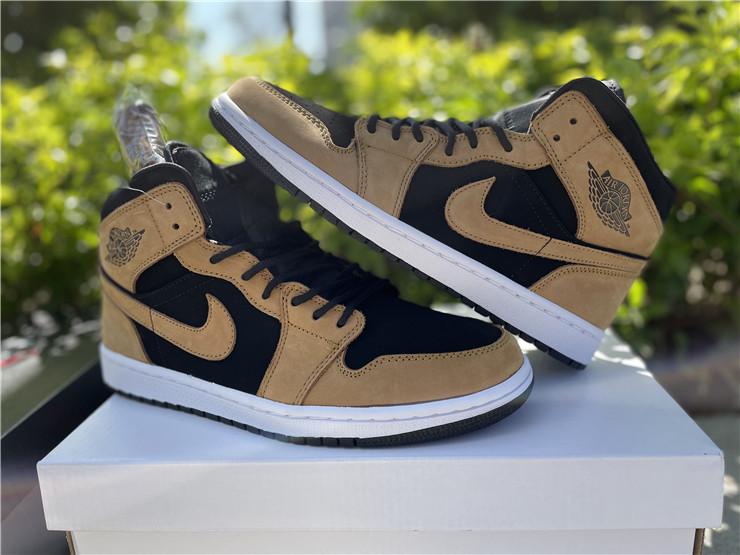 """Buy Cheap Air Jordan 1 Mid """"Wheat"""" Sneakers DB5453-700"""