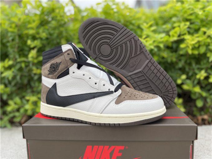Travis Scott x Air Jordan 1 High Reverse Cheap Sneakers