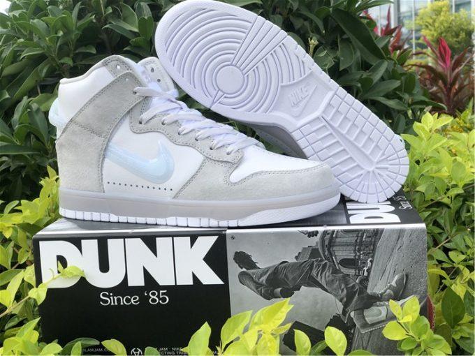 Slam Jam x Nike Dunk High White/Clear-Pure Platinum New Shoes DA1639-100