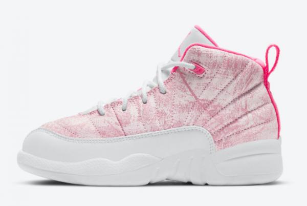 2021 Air Jordan 12 GS Arctic Punch Girls Shoes 510815-101