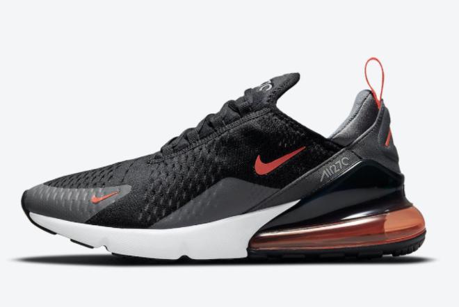 Cheap Nike Air Max 270 Black Grey-Orange Online Sale DM2462-001