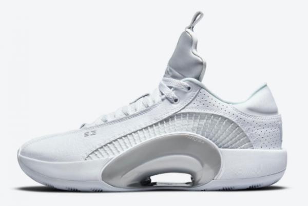 New Release Air Jordan 35 Low White Metallic CW2459-100