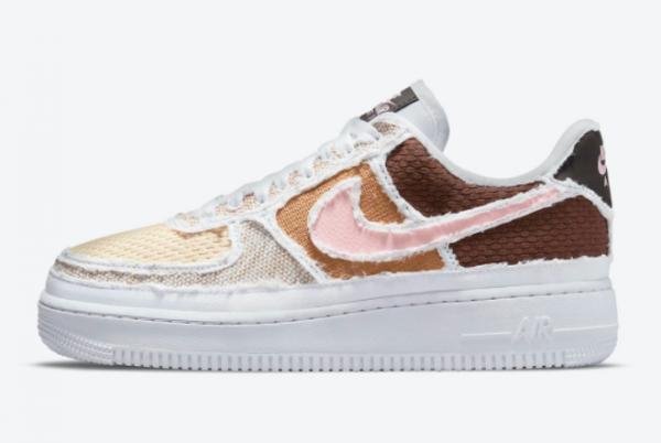 Nike Air Force 1 Low Reveal Tear-Away Fauna Brown Arctic Punch Sale DJ9941-244