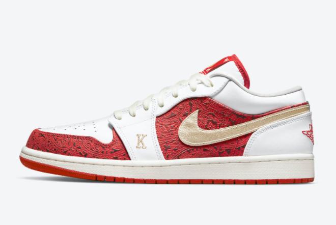 2021 Air Jordan 1 Low Spades Basketball Sneakers DJ5185-100